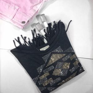 Forever 21 Fringe Cropped top size S/P
